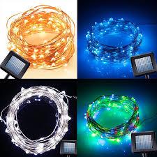 solar power led lights 100 bulb string 10m 100 led solar power string light copper wire string fairy light