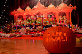 Diwali Decorations In Usa See Former Workshop Transform Into Glittering Temple For Diwali At