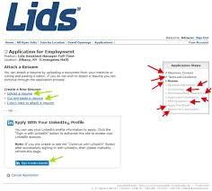 Upload Your Resume Lids Application Lids Career Guide Job Application Review