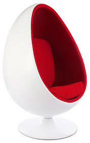 Retro Accent Chair Retro White Shell Egg Pod Chair Midcentury Armchairs And