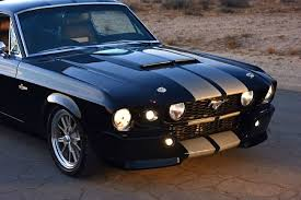 Silver Mustang With Black Stripes The Pit Viper A 1967 G T 500 Eleanor Not Like The Rest