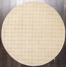 Round Rugs Modern by Rugsville Handmade Wool Ivory Gold Modern Diamond Round Rug 5 U0027 X 5 U0027