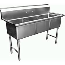 3 bay stainless steel sink amazon com allstrong 3 compartment stainless steel sink 15 x 15 x