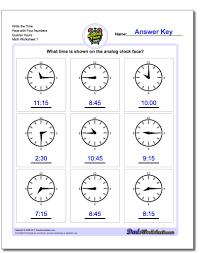 Time Clock Worksheets Quarter Hours