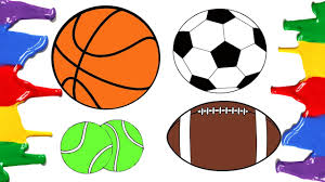 how to draw and color football basketball american football