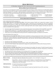 hr resume human resources resume objective exles
