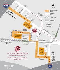 Umn Campus Map Directions To Mcnamara Alumni Center