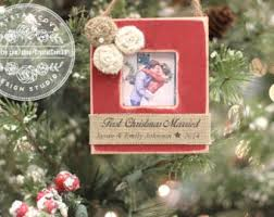 christmas ornament first christmas married mr and mrs newlywed