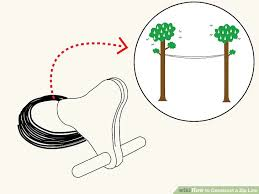 Backyard Zip Line Diy How To Construct A Zip Line 5 Steps With Pictures Wikihow