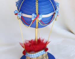 Table Top Balloon Centerpieces by Light Blue Air Balloon Centerpiece Or Cake Topper Baby