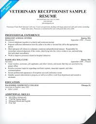 sample resume for medical secretary medical receptionist
