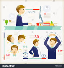 Office Desk Workout by Office Exercises Stock Vector 206049946 Shutterstock