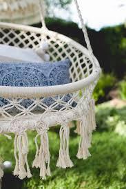 A Macrame Chair Makes For The Perfect Backyard Perch Via Coco