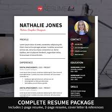 1 page resume template resume template for word theme nathalie modern look in black