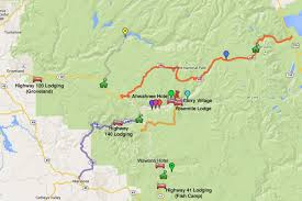 Yosemite Valley Map Evergreen Lodge Yosemite Review And Guide
