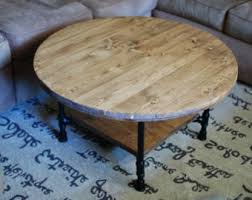 Round Coffee Table With Shelf Wooden Oval Rustic Coffee Tables Round Industrial Coffee Table