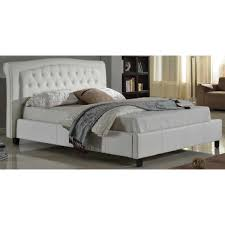 Bianca Home Decor by Bedding Baxton Studio Bianca White Modern Bed With Tufted