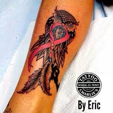 awesome owl cancer ribbon tattoos cancer