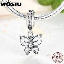 sted necklace 925 sterling silver takes flight butterfly charm cz fit
