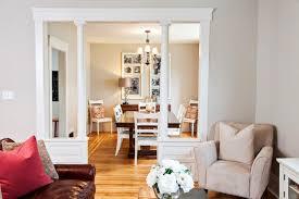 half wall with column home design ideas