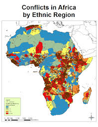 Map Of Colonies African Conflict And The Murdock Map Of Ethnic Boundaries