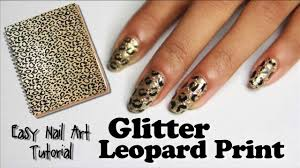 glitter leopard print nails with incoco nail polish strips easy