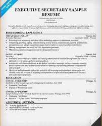 Sample Of Secretary Resume by Fanciful Executive Secretary Resume 3 Executive Secretary Resume