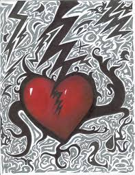 abstract heart drawings broken heart abstract by mayzart on