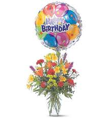 flowers and balloons birthday bouquet and balloon flowers and balloons a