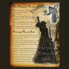 Halloween Poems About Witches Elemental Archangels Digital Download Book Of Shadows Page