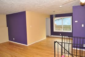 Purple Living Room by Purple Wall Paint Inspire Home Design