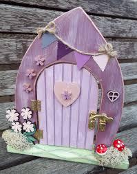 Fairy Door by Wooden Fairy Door Free Standing Hand Painted Custom Made To