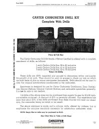 carter carburetor special tools