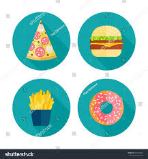 fast food vector icon design flat stock vector 275426600
