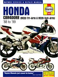 honda cbr 400 honda cbr400rr nc29 gullarm 1990 99 service and repair manual