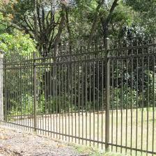 ornamental steel iron aluminum austerra fence gate