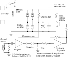 current actuated relay driver