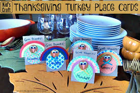 thanksgiving craft turkey place cards