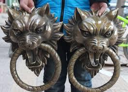 foo dog door knocker 2018 17chinese bronze guardian foo fu dog lion door gate