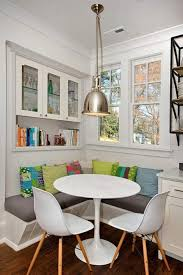 Kitchen Nook Designs by Sparkling Breakfast Nook Design Idea With Red Sofa Cushion Also