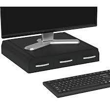 Stands For Laptops On Desk Mind Reader Perch Monitor Stand And Desk Organizer 2 34 H X 13 12