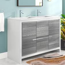 double sink bath vanity double vanities you ll love wayfair