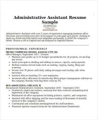 Office Administration Resume Samples by 26 Professional Administrative Resume Templates Free U0026 Premium