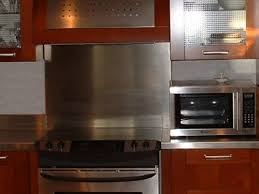 Small Kitchen Decoration Using Stainless Steel Kitchen Backsplash - Stainless steel kitchen backsplash