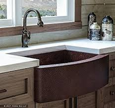 copper apron front sink copper apron front sink elegant hammered with dark wood and light 6
