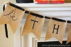 burlap thanksgiving banner be thankful diy thanksgiving banner a thoughtful place