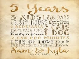 5 yr anniversary gift 5 year anniversary gifts ideas for him and for 5 year wedding