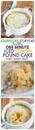 healthy 1 minute iced lemon pound cake starbucks copycat
