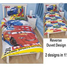 Lighting Mcqueen Bedroom Disney Cars Duvet Covers Single Junior Bedding