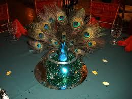 peacock centerpieces peacock centerpieces with green and settings raji creations